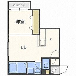 Leia札幌(レイア) 5階1LDKの間取り