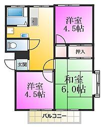 第5吉橋ハイツ[1階]の間取り