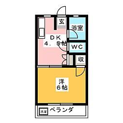 ソレイユ B[1階]の間取り
