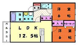 香椎老ノ水ガーデン[1階]の間取り