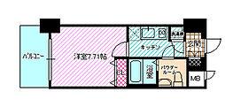 レジュールアッシュ大阪城NORD[2階]の間取り