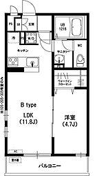 神奈川県川崎市麻生区王禅寺西7丁目の賃貸マンションの間取り