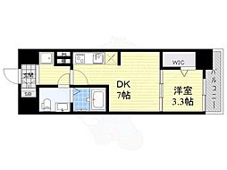 JPレジデンス大阪城東4 4階1DKの間取り