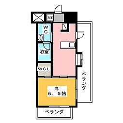 レジディア武蔵小杉 5階1DKの間取り