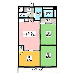 タキマツ第6マンション[4階]の間取り