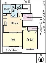 フェリーチェ B棟[1階]の間取り