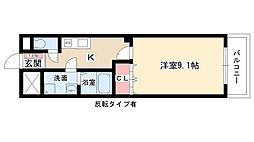 愛知県日進市岩崎町根裏の賃貸アパートの間取り