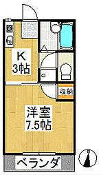 """シャトレM""""s 壱番館[2階]の間取り"""