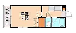ラカーサ田島[3階]の間取り