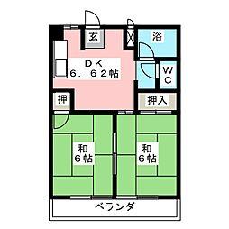 ベルエクセル[2階]の間取り
