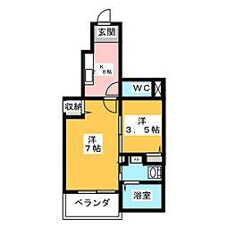 ヤマトサンシャインM[1階]の間取り