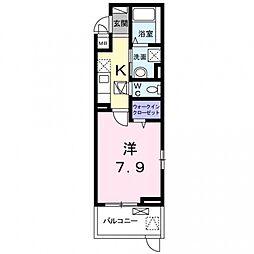 maison mint[205号室号室]の間取り