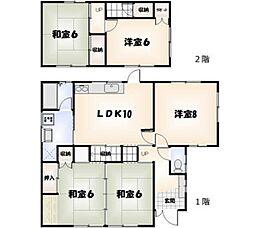 [一戸建] 徳島県徳島市北島田町2丁目 の賃貸【/】の間取り