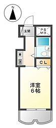 アスティ武庫川[3階]の間取り