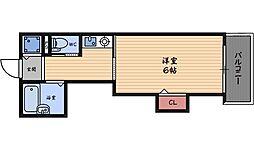 キオズ梅田ウエスト[3階]の間取り