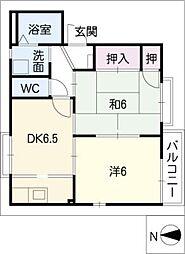 大高緑苑B棟[1階]の間取り