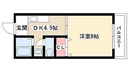 愛知県名古屋市名東区高針原2丁目の賃貸アパートの間取り