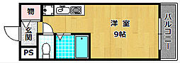 アクシス堂山II[3階]の間取り