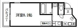 サンセール紫野[201号室]の間取り