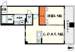 hasizume-bill 4階1LDKの間取り