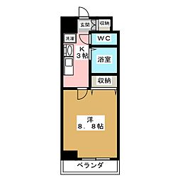 パルティール覚王山[4階]の間取り