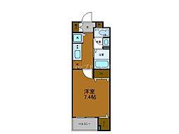Osaka Metro谷町線 四天王寺前夕陽ヶ丘駅 徒歩7分の賃貸マンション 1階1Kの間取り