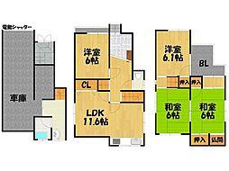 [一戸建] 大阪府大東市灰塚1丁目 の賃貸【/】の間取り