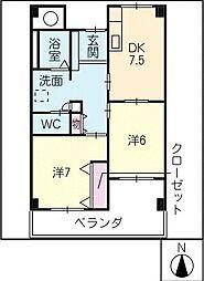 Livable CLOVER[2階]の間取り