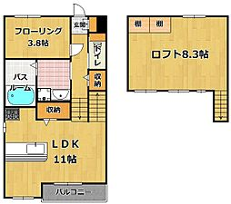 SOLLIEVO〜ソリエーヴォ〜 愛宕参道[2階]の間取り