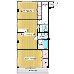 ブロンズハイム[3階]の間取り