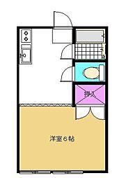 ハイツ伊藤[203号室]の間取り