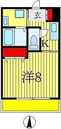 サポーレ松戸[7階]の間取り
