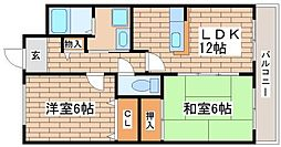 兵庫県神戸市長田区平和台町2丁目の賃貸マンションの間取り