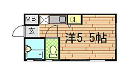 平山マンション[1階]の間取り