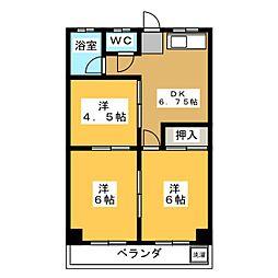 瑞浪ハイツ[2階]の間取り