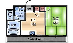 ハイツルミナール立花[3階]の間取り