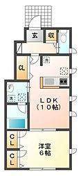 ガーデンコート小金井[1階]の間取り
