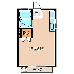 三重県鈴鹿市若松北2丁目の賃貸アパートの間取り