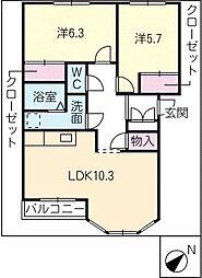 ライフピアAo[2階]の間取り