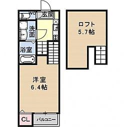 醍醐南西浦町SKHコーポ[102号室号室]の間取り