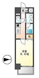 トレヴィ高岳[9階]の間取り