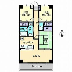 香川県高松市元山町の賃貸マンションの間取り