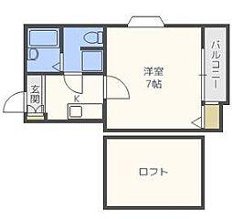 ピュア吉塚八番館[2階]の間取り