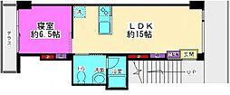 AOKI  Apartment[305号室号室]の間取り