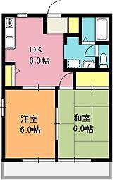 ルミエールB棟[1階]の間取り