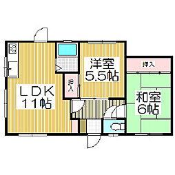 [一戸建] 北海道室蘭市増市町1丁目 の賃貸【/】の間取り