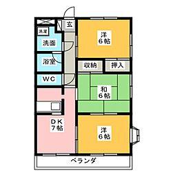 グランドハイツU[4階]の間取り
