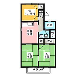 セジュールU A棟[2階]の間取り
