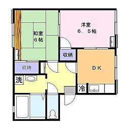 K金沢3号棟[202号室]の間取り
