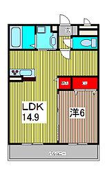 ルノン[2階]の間取り